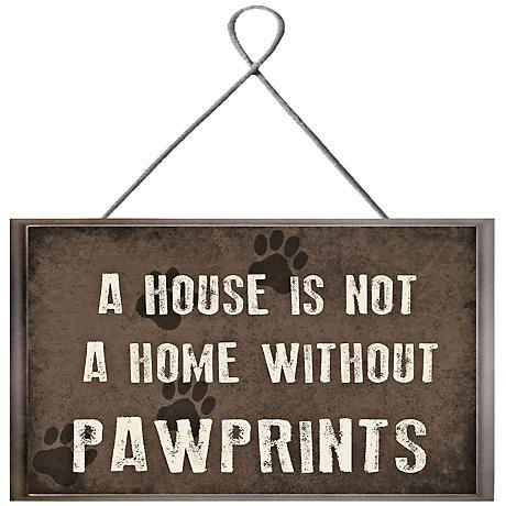 "Pawprints Plaque 10"" High Framed Giclee Wall Art"