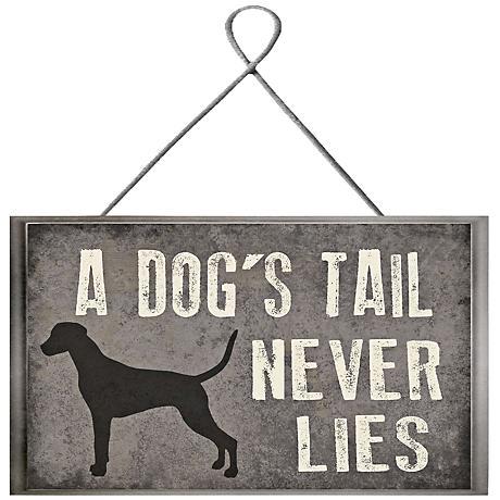 """Tail Never Lies Plaque 10"""" High Framed Giclee Wall Art"""
