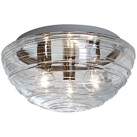 """Besa Wave 15"""" Wide Clear Ceiling Light"""
