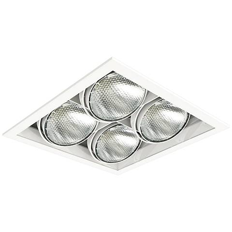 Eurofase White Square Quad Par 20 Recessed Light