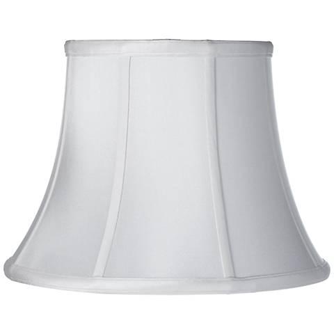 Soft White Silk Bell Lamp Shade 11x18x13.5 (Spider)