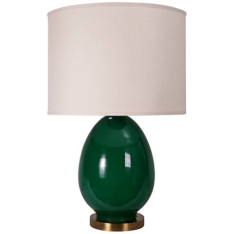 Jamie Young Large Egg Emerald Green Table Lamp