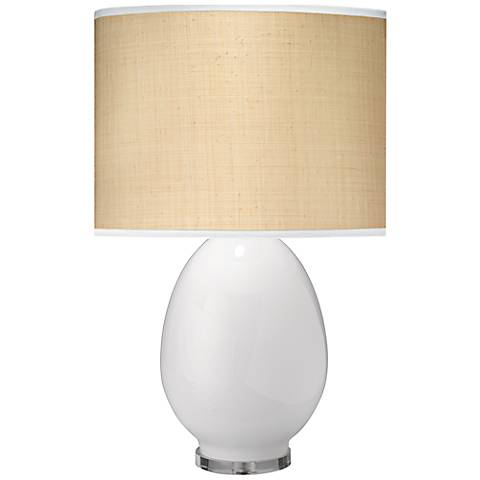 Jamie Young Large Egg Table Lamp with Taupe Linen Shade