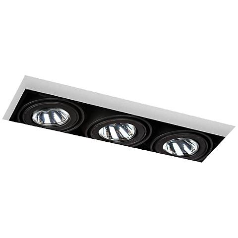 Eurofase Low Voltage Black Triple Recessed Light