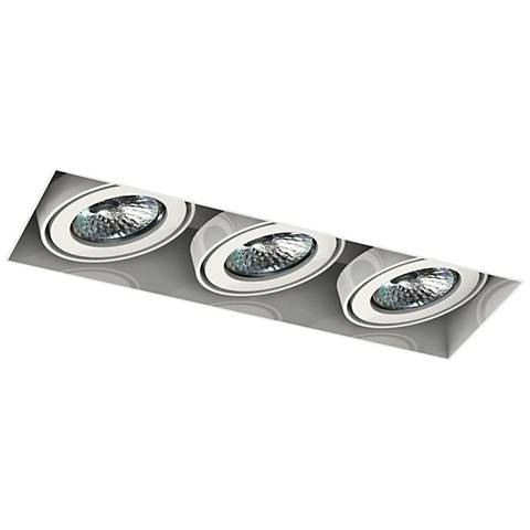 Eurofase Low Voltage White Triple Recessed Light