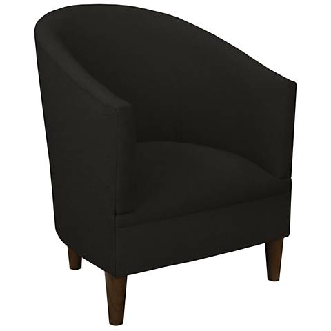 Tilley Black Linen Tub Chair