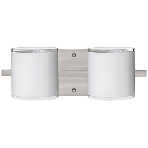 "Besa Pogo 15"" Wide White Bathroom Light"
