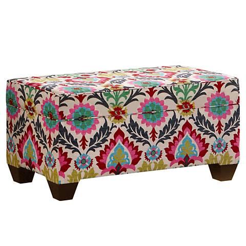 Santa Maria Desert Flower Upholstered Storage Bench