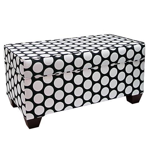 Dandi Black and White Upholstered Storage Bench
