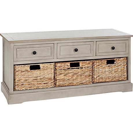 Reynolds Gray 3-Drawer Wood Storage Unit