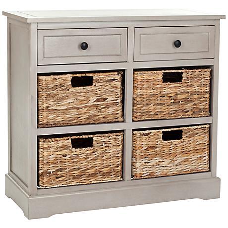 Reynolds Gray 2-Drawer Wood Storage Unit