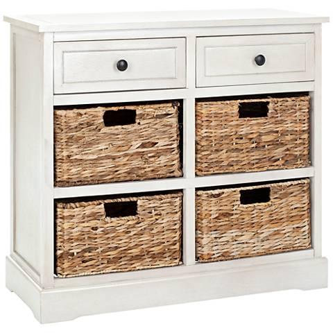 Reynolds White 2-Drawer Wood Storage Unit