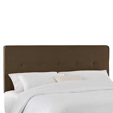Chambers Chocolate Five Button Headboard