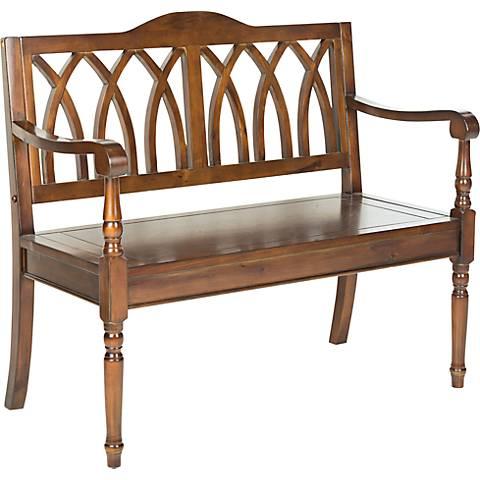 Leamington Walnut Wood 40 Quot Wide Bench 4k449 Lamps Plus