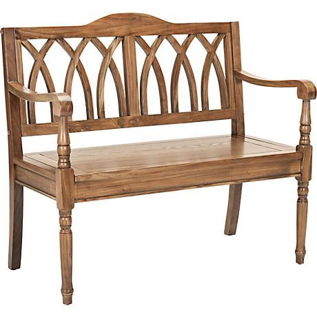 """Leamington Oak Wood 40"""" Wide Bench"""