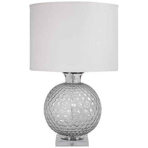Jamie Young Clark Sphere Gray Table Lamp