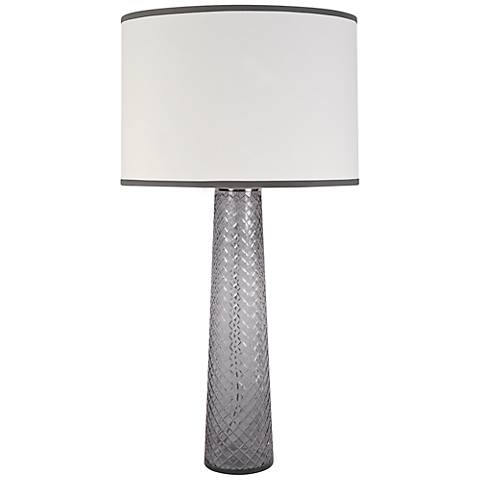 Jamie Young Pillar Gray Table Lamp