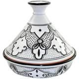 Le Souk Ceramique Sabrine Black and White Slow Cooker Tagine