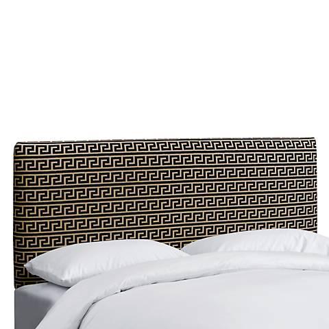 Akis Noir Upholstered Headboard