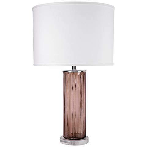 Jamie Young Casino Taupe Glass Table Lamp