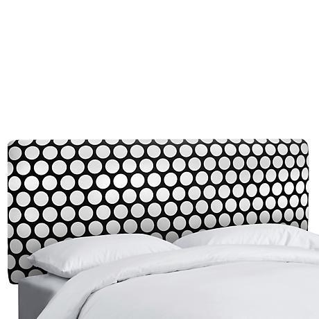 Dandi Black and White Upholstered Headboard