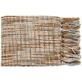 Surya Tabitha Collection Brown and Blue Throw