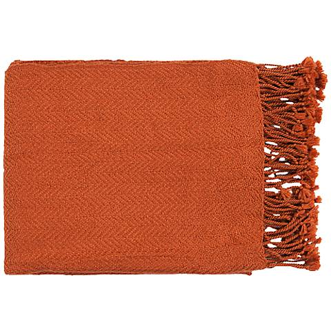 Surya Turner Collection Burnt Orange Throw