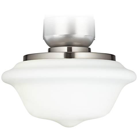 """Schoolhouse 11"""" Wide Brushed Nickel Ceiling Fan Light Kit"""