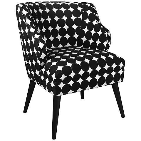Dot Scrape Jet Black and White Modern Chair
