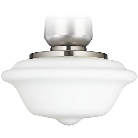 """Schoolhouse 13"""" Wide Brushed Nickel Ceiling Fan Light Kit"""