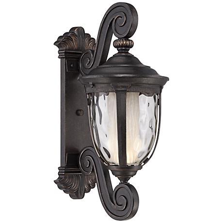 "Bellagio™ 24"" High LED Veranda Bronze Outdoor Wall Light"