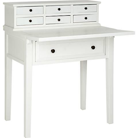 "Amada 7-Drawer White 29 3/4"" Wide Desk"