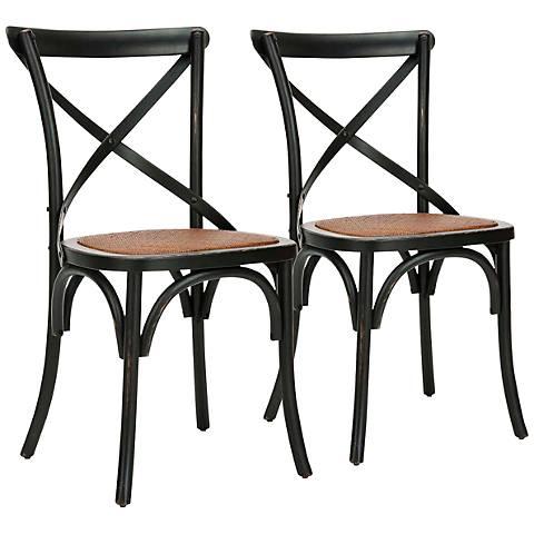 Sarton Black Back Side Chairs Set of 2