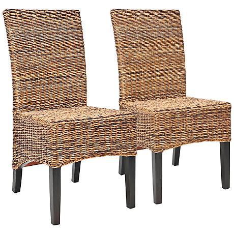 Endira Rattan High Back Side Chair Set of 2