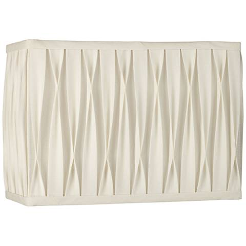 White Pinched Pleat Rectangle Shade 14/7x14/7x10 (Spider)
