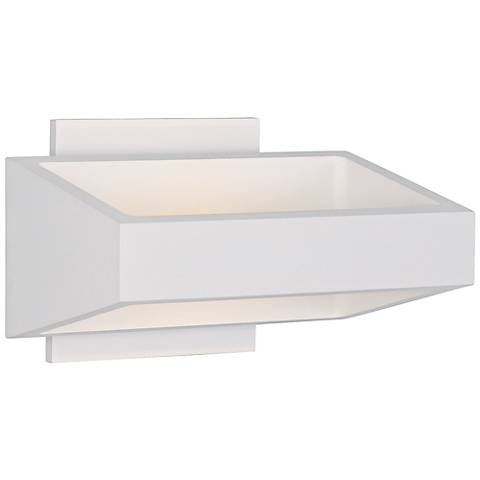 "ET2 Alumilux 7 1/4"" Wide White Multi-Directional LED Sconce"