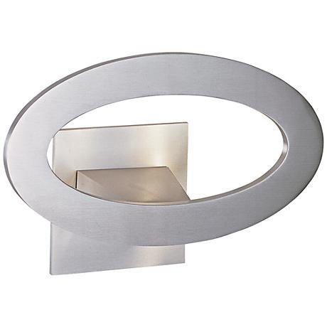 "ET2 Alumilux 10"" Wide Satin Aluminum LED Oval Sconce"
