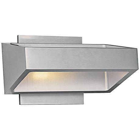 """ET2 Alumilux 7 1/4"""" Wide Satin Aluminum LED Sconce"""