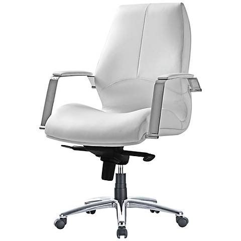 Impacterra Andrew Ivory Faux Leather Office Chair