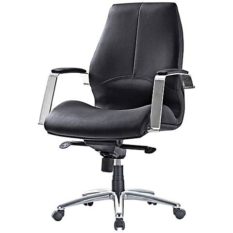 Impacterra Andrew Black Faux Leather Office Chair