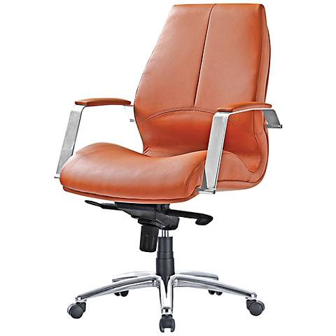 impacterra andrew brown faux leather office chair 4m486