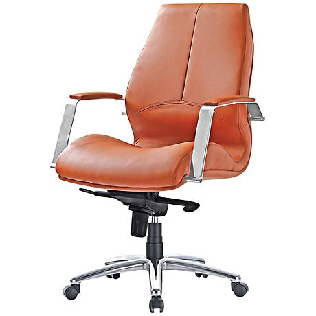 Impacterra Andrew Brown Faux Leather Office Chair