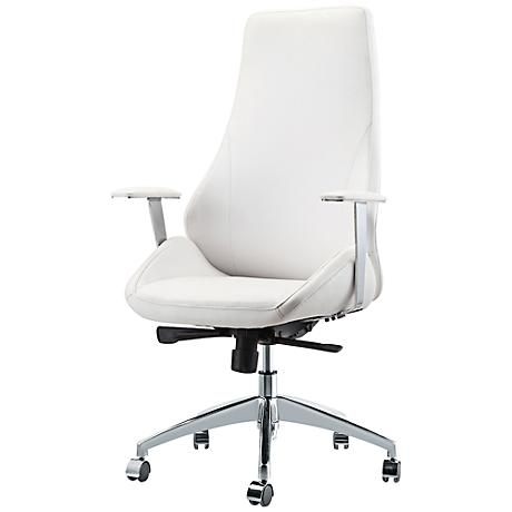 Impacterra Canjun Ivory Faux Leather Office Chair