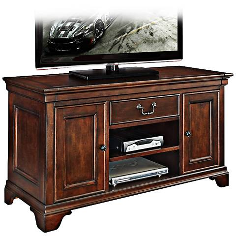 Belcourt Delmont Cherry Entertainment Console