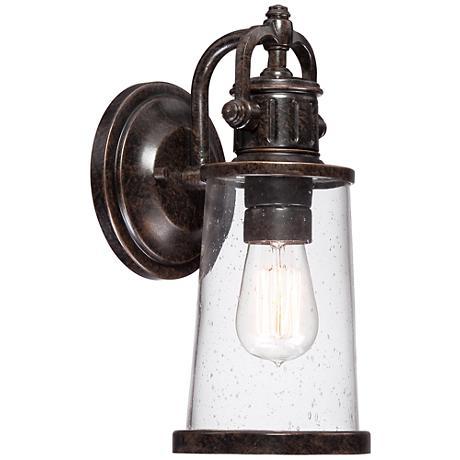 """Quoizel Steadman 12 1/2"""" Small Outdoor Wall Light"""