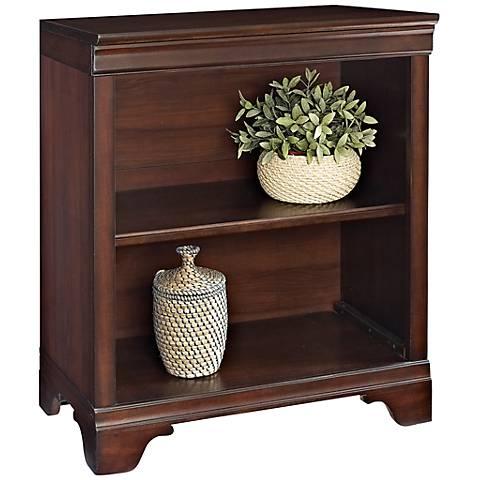 Belcourt Delmont Cherry 2-Shelf Bookcase