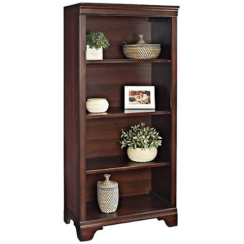 Belcourt Delmont Cherry 4-Shelf Bookcase