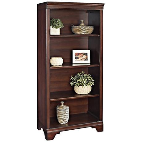 Belcourt Delmont Cherry 4-Shelf Bookcase