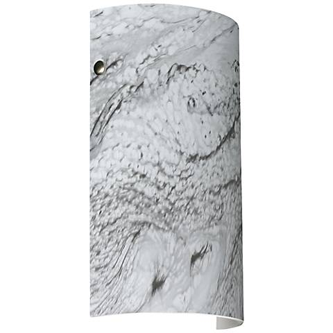 "Besa Tamburo 11 3/4"" High Marble Grigio Sconce"