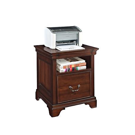 Belcourt Delmont Cherry File Cabinet-Printer Stand